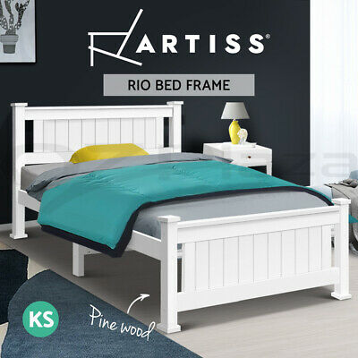 NEW Wooden Bed Frame RIO King Single Pine Wood Children Adult Timber Slat