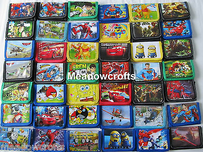 Kids Wallet Various Designs Boys Girls NEW Cartoon Coin Purse