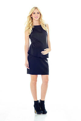 New LILAC MATERNITY Clothes Black Pencil Suiting DESK TO DINNER Skirt M 8/10 $75