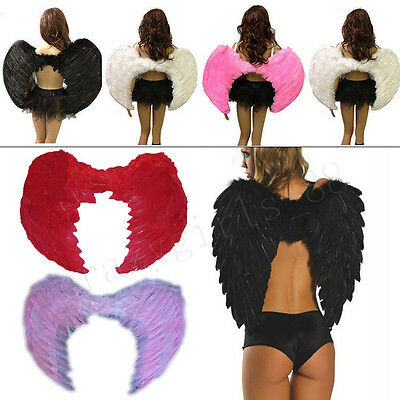 Festival Hallowmas Feather Angel Wings Photo Props Adult Women Men Costume Adult