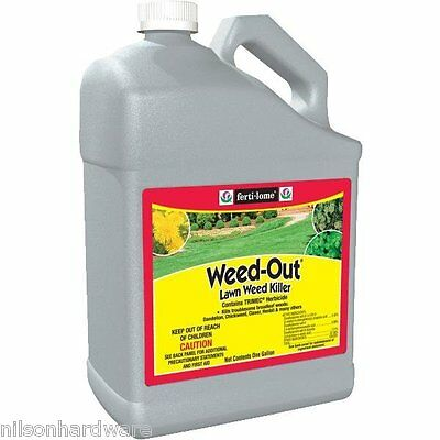 4 Pk Fertilome 1 Gal Liquid Weed-Out Lawn Weed Killer W/2,4D Concentrate 10519