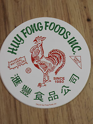 New Sriracha Huy Fong Foods Inc White Sticker Awesome Hot Sauce