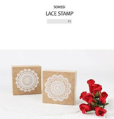 Elegant Lace Doily Rubber Stamps For Card Making Organizers & Day Planners