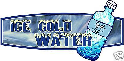 Water Drink Beverage Concession Beverage Sign Decal 12""
