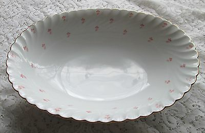 Royal Bayreuth Fine China Germany White tiny pink flowers ROB104 oval veg bowl