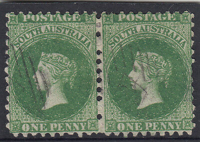 Stamps South Australia 1d green SG 90 perf 10 x 10 numeral in diamond postmark