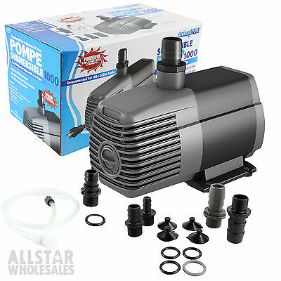 Active Aqua Water Pump Submersible 1000 GPH Hydroponics Water System Exclusive