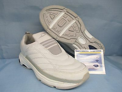 Womens Shoes  DR SCHOLL'S Size 7 1/2 WHITE LEATHER SLIP ON EXC