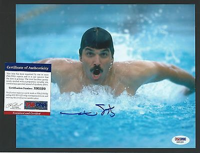 "MArk Spitz signed 8""x10"" photograph PSA Authenticated Olympic Gold"