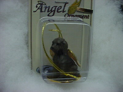 LABRADOODLE Chocolate brown dog ANGEL Ornament Figurine NEW Christmas puppy