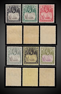 1924 - 1927 Ascension Island Small Lot Lh - Scott. 10,11,12,13,15,16