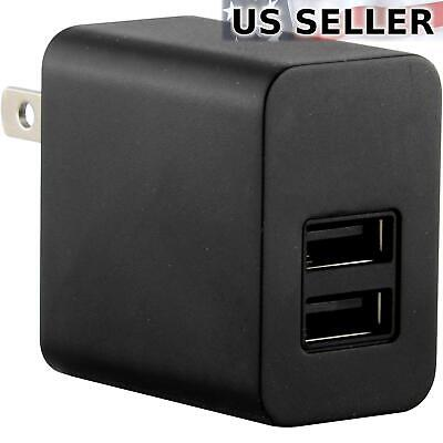 5V 2100mA Universal Home Wall AC to 2-Port USB Adapter Charger Black