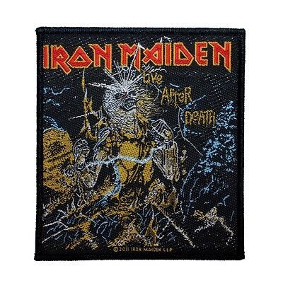 """""""Iron Maiden: Live After Death"""" Album Art Heavy Metal Band Sew On Applique Patch"""