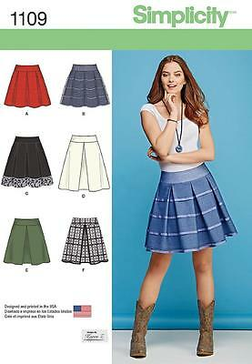 Simplicity Sewing Pattern Misses' Skirts Length & Trim Variations  6 - 22 1109