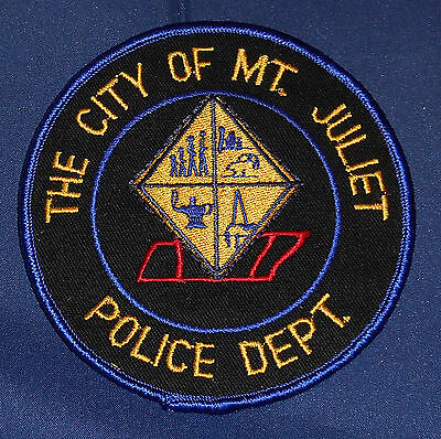 The City of Mt. Juliet, Tennessee Police Shoulder Patch (invp690)