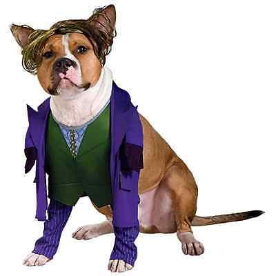 Joker Batman Dark Knight Clown Fancy Dress Up Halloween Pet Dog Cat Costume