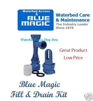 Blue Magic Fill & Drain Kit for Hardside and Softside Waterbed Mattress