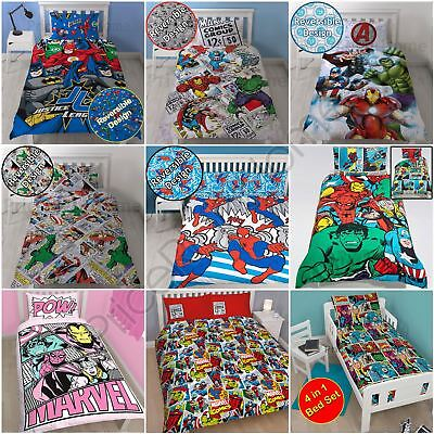 Marvel Batman Duvet Cover Sets - Single Double King - Comics Avengers Spiderman