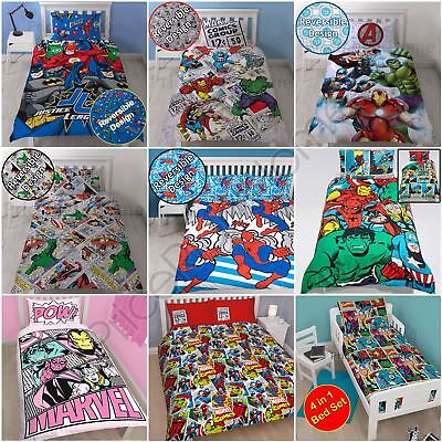Marvel Duvet Cover Sets - Single Double King - Comics Avengers Spiderman Batman
