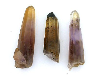 7.17 Gram 3 Natural UNTREATED Ametrine Quartz Crystal Point Gem Gemstone EBS1736