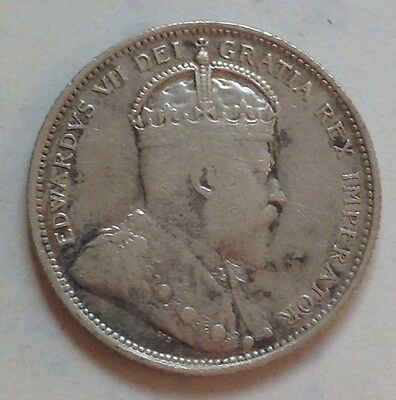 1903 Canada Silver 25 Cent Coin Canadian Twenty-Five Cents Quarter