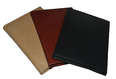 Genuine Leather Passport Cover Holder Wallet Case Travel 3 Colors New