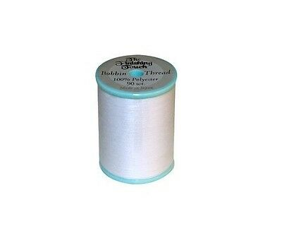 Finishing Touch # 90 Weight Embroidery Bobbin White Thread 1100 Yards Spool