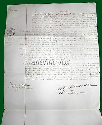 1878 DUMFRIES Horse Dealer & Post Master Contract of Partnership, M & R. Teenan