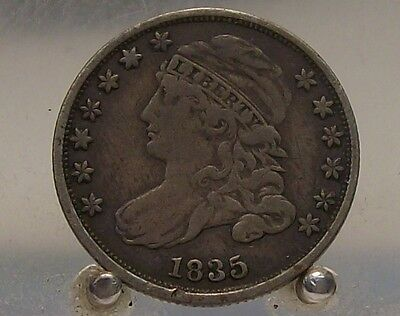 1835 Capped Bust Silver Dime, Early U.S Silver Coin