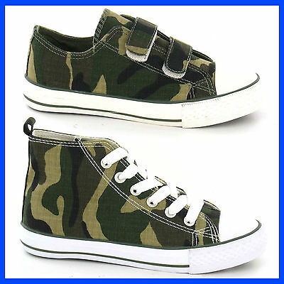 WHOLESALE Boys Camouflage Print Canvas Pump or Boot Size 10-3 x16prs N1037/38