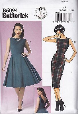 Butterick Sewing Pattern Misses' GERTIE Dress Sizes 8 - 22 B6094