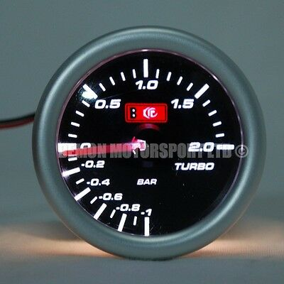 "52mm (2"") Smoked LED Boost Gauge - 2 Bar  (Universal)"