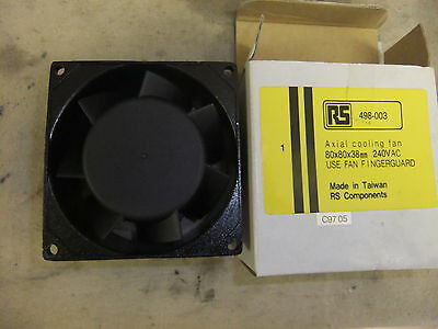Electrical Axial cooling fan RS 498-003 80x80x38mm 240v AC NEW