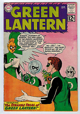 Green Lantern #11 3.0 Tan To Off-White Pages Silver Age