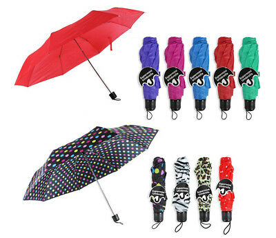 Small Umbrella Supermini Telescopic Lightweight Compact with Strap Multi Colours