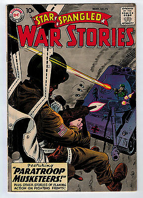 Star Spangled War Stories #75 4.5  Off-White Pages Silver Age