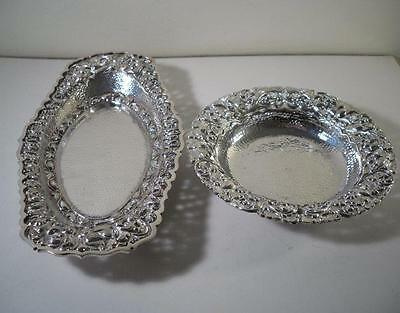 Two Good Quality Oriental Style Silver Dishes : Singapore c1900