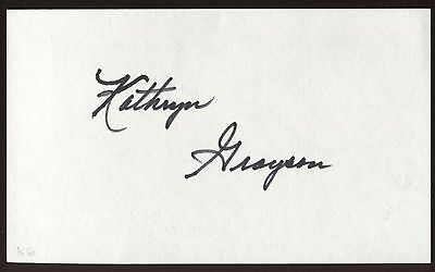 Movies Catherine Deneuve Signed Index Card Signature Autographed Auto