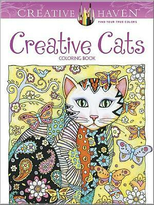 Adult Coloring Book ~ Creative Cats ~ Removeable Pages 4 Framing ~ Brand New