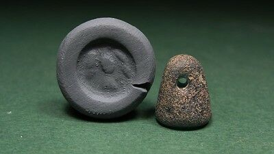 Ancient Bead With Eagle Image Roman 100-300 Ad