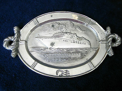 DAWN PRINCESS (1997) Inaugural Pewter Platter -- Princess Cruises
