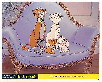 The Aristocats Original Walt Disney British Lobby Card Duchess O'mallley Cats