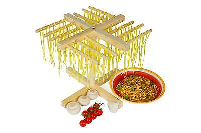 Andrew James Authentic Italian Style Wooden Pasta Dryer Stand Food Drying Rack