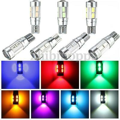 4x T10 501 W5W Canbus 10 LED 5630 SMD Error Free Side Interior Number Light Bulb