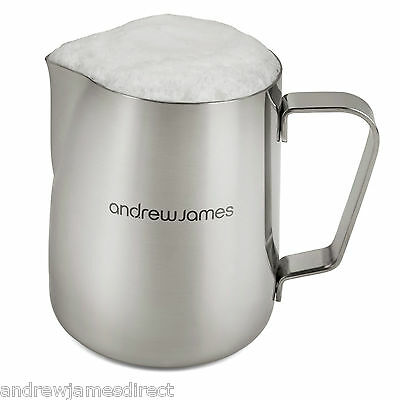 Andrew James Stainless Steel Small Jug 370ml For Milk Frothing Or Serving