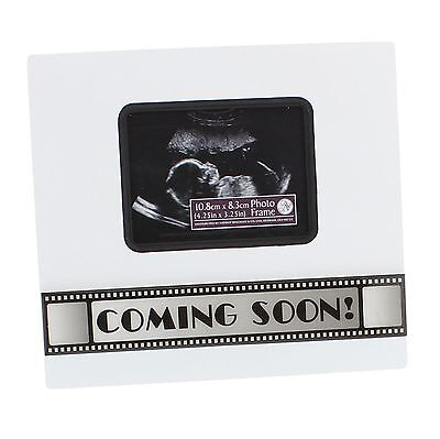 """New View Baby Scan Photo Frame """"Coming Soon"""" Lovely Gift NEW  24437"""
