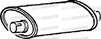 Volvo 740 2.3 Gl Sln 89-91 Exhaust Silencer Box Spare Part Replacement