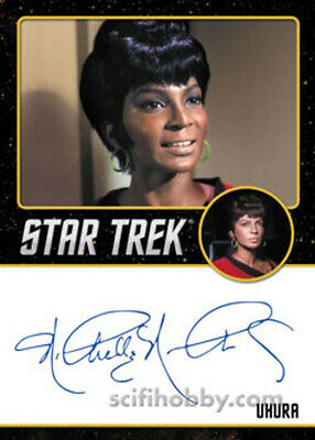 Star Trek TOS Portfolio Prints Autograph Card Nichelle Nichols as Uhura