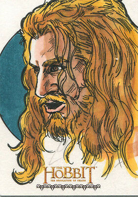 Hobbit Desolation of Smaug Fine Art Sketch Card by Brian Kong of Fili