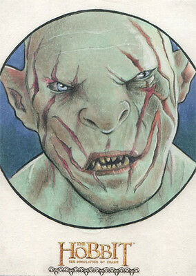 Hobbit Desolation of Smaug Fine Art Sketch Card by Shane McCormack of Azog